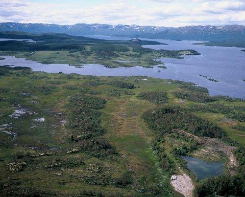Illustrasjonsbilde : Møsvannsmagasinet  - Luftfoto / Åsmund Tynning 2007