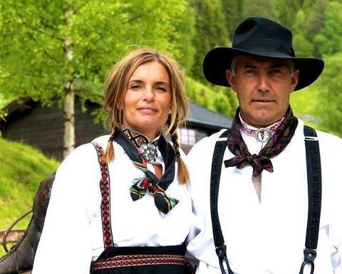 GLEDER SEG: Ekteparet Anne Grethe Myrann og Stein Rudi fra Uvdal gleder seg til å overta som vertskap på Mårbu turisthytte. FOTO: PRIVAT