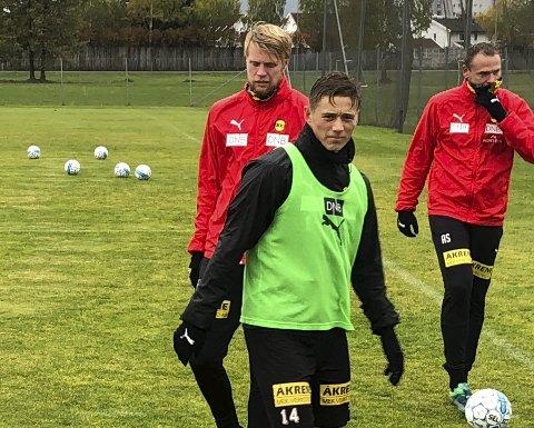 Inne i varmen: Fredrik Krogstad har kapret plassen som høyre kant. Det er rollen han først gikk som LSK-spiller, tilbake i 2015. Foto: Per Morten Sødal