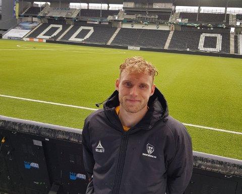 TILBAKE MED MÅL: Porsgrunnsgutten Jonathan Lindseth satte inn 1-0, og så lenge ut til å bli matchvinner.