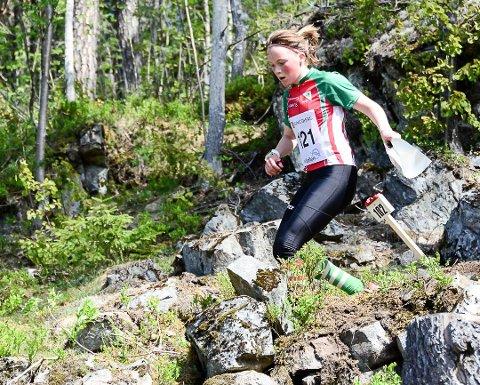 Synne Sandven (13) kom på andreplass i dagens løp på Sørlandsgaloppen (arkivfoto).