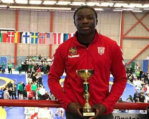 BRYTING: Exauce Mukubu (gull i nordisk. Gull i junior-NM. 4. plass i junior-VM.)
