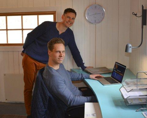 Kontoret: Foreløpig holder de to brødrene som utgjør GK Jacobsen AS til i en garasje i Våjebygda.