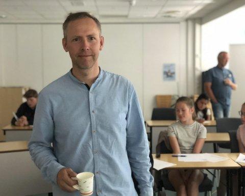 Ny barneskole: Arealplanlegger og sivilarkitekt Andreas Stensland får mye skryt for måten han leder arbeidet med å planlegge den nye skolen. Arkivfoto