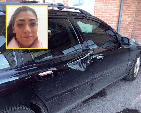 BULKET: Midt på dagen på fredag var det noen som kjørte i Maria Mathisen, hvem det var vet hun ikke.