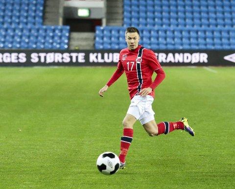 PÅ BENKEN: Martin Linnes fra Sander begynner på benken i landskampen mot Finland i kveld.