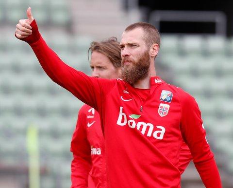 BEGIVENHETSRIKE DAGER: Jo Inge Berget er klar for to landskamper og for å bli far for første gang. Foto: Lise Åserud, NTB.