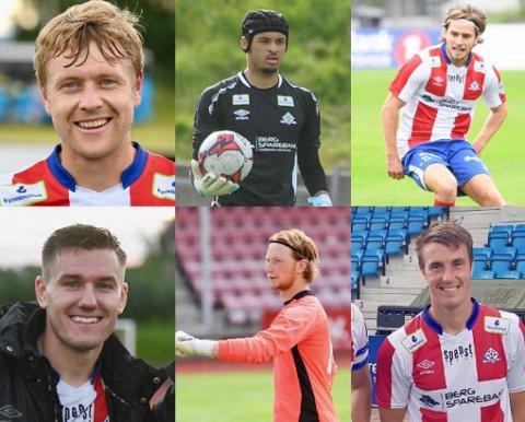 UTEN KONTRAKT: Filip Westgaard, David Paulmin, Oscar Lopez Borgersen, Deni Hasanagic, Thomas Johansen og Björn Berglund er alle uten kontrakt neste år.