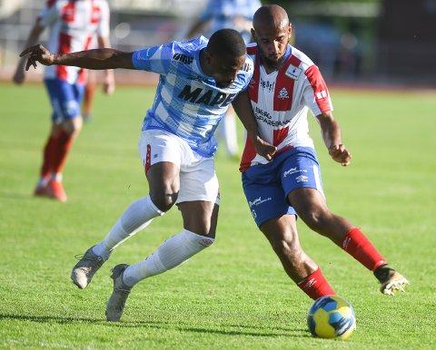 SCORING: Albert Makiadi berget det ene poenget for Kvik.