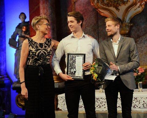 Gitarist Kjetil Kongsgård Røraas (19) fikk Jonas B. Gundersens musikkpris.