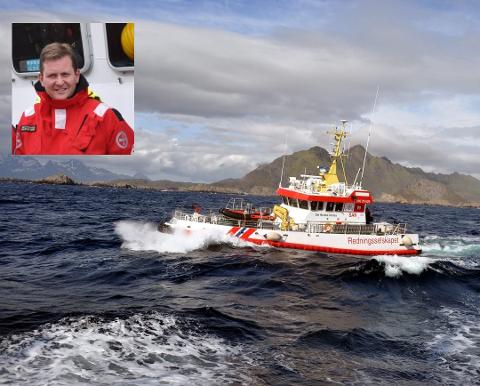 """HEFTIG: Skipper Glenn Pettersen forteller at han og resten av mannskapet fpå """"Det Norske Veritas"""" fikk en heftig tur da de slepte """"Folla 2"""" inn til kai."""