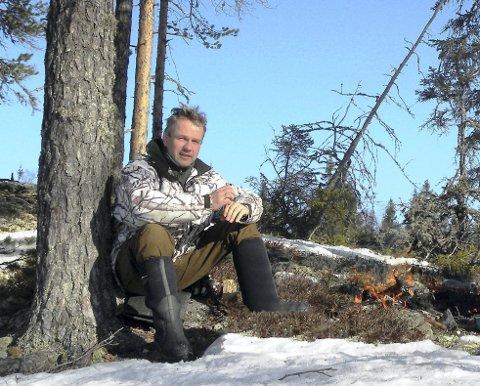 SKUTER: Stein Langdalen i NEJFG har npk en gang søkt om dispensasjon for å kunne bruke snøskuter for å registrere elgbestanden i Nordre Elverum.