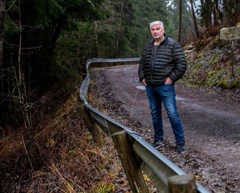 USTABIL: – Veien er så ustabil at jeg frykter stadige utglidninger og enorme kostnader, sier Per-Olav Kristoffersen.
