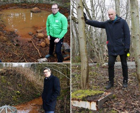 Andreas Nordang Uhre (MDG), Arne Oftedal (Ap) og Kenny Rettore (H) støttet alle opp om bekymringene fra innbyggerne. Et snaut år senere pågår det fremdeles arbeid i parken. Til glede for alle som benytter seg av friområdene.