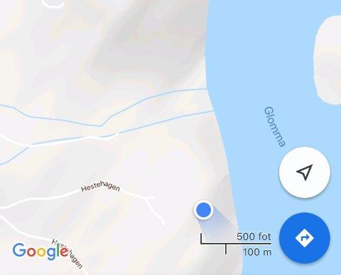 Området ligger bare 50 meter unna Glomma.