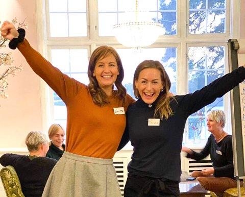 HURRA: Jeanette Sleveland og Mariann Deila feirer den store nyheten.