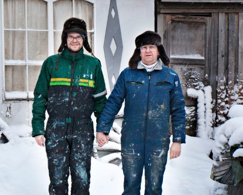 Kunstnerne Patrik Entian og Aleksi Wildhagen