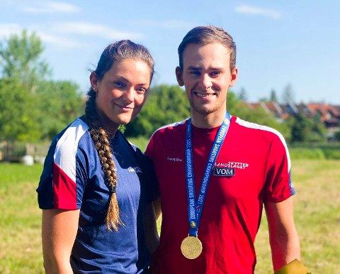 Jeanette Hegg Duestad og Henrik Larsen.