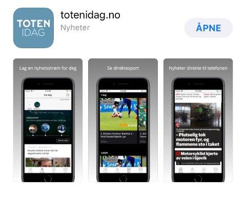 APP STORE: Nå finner du vår nye app i App Store.