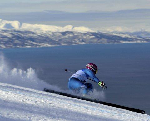 Spektakulært: Det ble sendt spektakulære TV-bilder fra Narvik under NM 2017. Foto: Kjell G. Karlsen