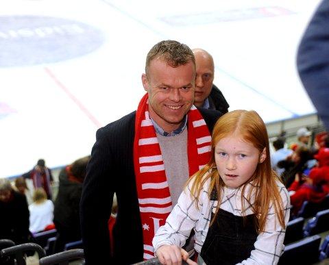 Espen Granberg Johnsen var på kamp sammen med datteren Mari.