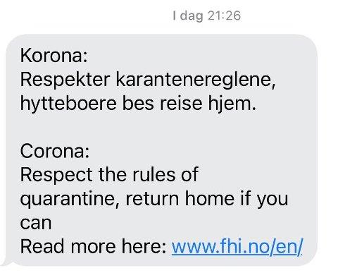 Denne meldingen ble onsdag kveld sendt ut ved en feil i Øyer.