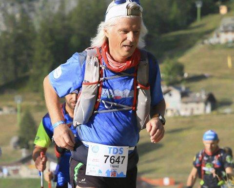 Trond Sjåvik i ultraløp i Frankrike i alpene. Ultra-Trail du Mont Blanc