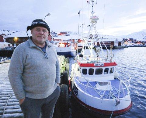 NY EIER OG NYTT NAVN: Øyvind Berg har skiftet båt. For 750.000 kroner har han kjøpt tidligere «Alf Sigmund», som nå har fått navnet «Jørgen.»