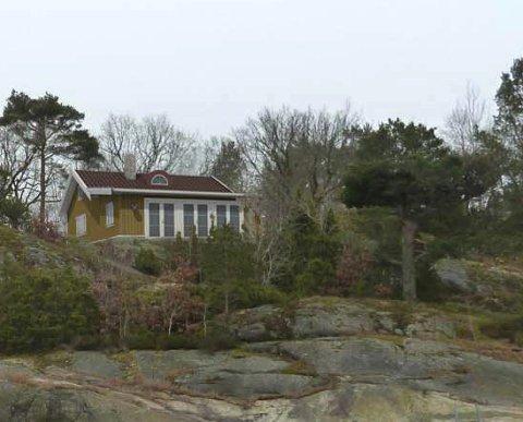NY: Slik ser den nye hytta ut på fotomontasjen fra Arkitekthuset Kragerø AS.