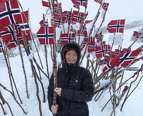 Mona Eikemo Røstbø kom i mål natt til laurdag etter å ha delteke i Expedition Amundsen.