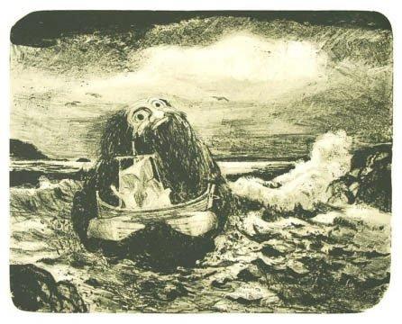 Fredvang-kunstner: Draugen er et av Lind Arnold Solstads mest kjente motiv.