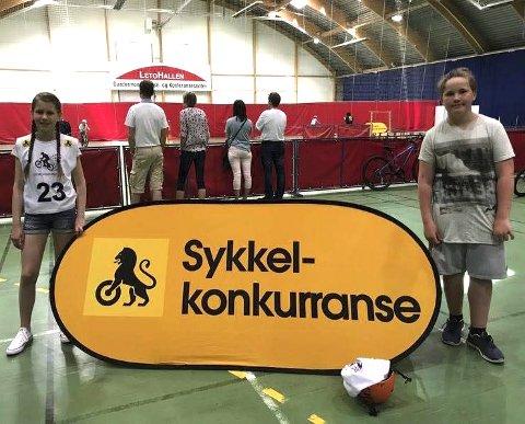 Lofot-deltakere: Marie Soleng vant jenteklassen og Håkon Lindgaard Bech gutteklassen blant elever i mellomtrinnet i Lofoten. Det sikret de to plass i landsfinalen som ble arrangert i Eidsvoll 17. juni. FOTO: LEKNES SKOLE