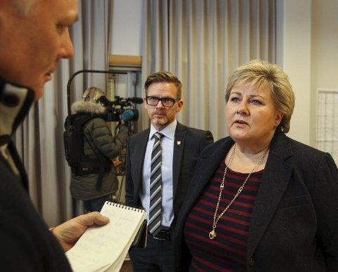 TØFFE: Erna Solberg mener Ryanair kjører et tøft løp.