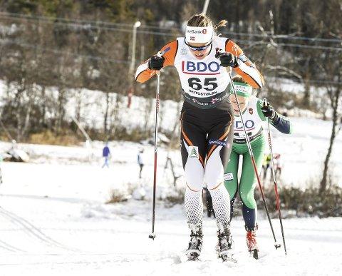 Brøt en barriere: Ingvild Flugstad Østberg brøt en barriere da hun staket seg gjennom gårsdagens åpningsrenn på Beitostølen. Foto: Terje Pedersen, NTB scanpix