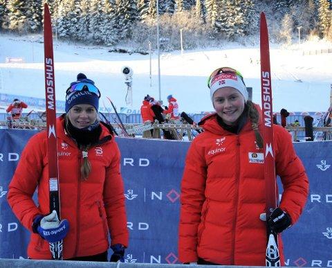 VIKTIG: Mathilde Skjærdalen Myhrvold (t.h) og Hedda Østberg Amundsen er to av frontfigurene til Madshus.