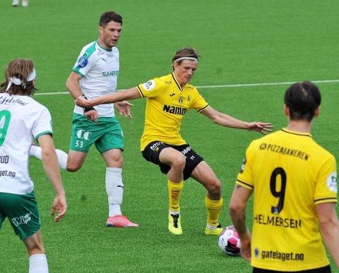 STORSPILTE: Nicolai Fosso Fremstad leverte en meget god kamp på midtbanen da HamKam ble slått.