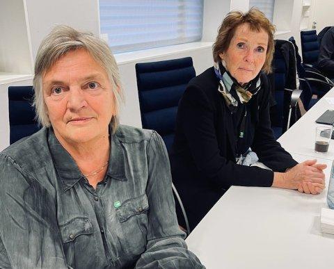 MÅ BISTÅ: Rådmann Wenche Grinderud (nærmest) og ordfører Kari Anne Sand i Kongsberg, på møte i kriseteamet..