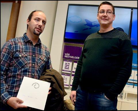 FÅR 225.000: Borgen FAU, her representert ved Robin Bruun og Jon Iversby, får nesten en kvart million kroner til oppgradering av utemiljøene.