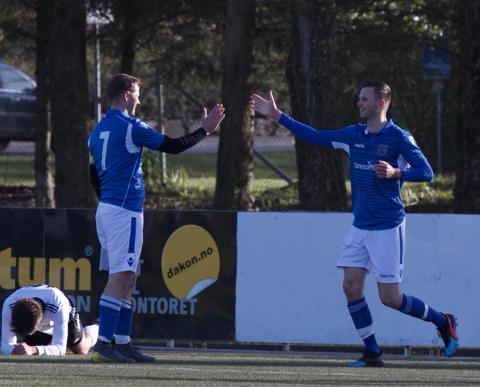 To av kveldens målscorere for Havørn: Kevin Hodneland og Tord Næss Haga.