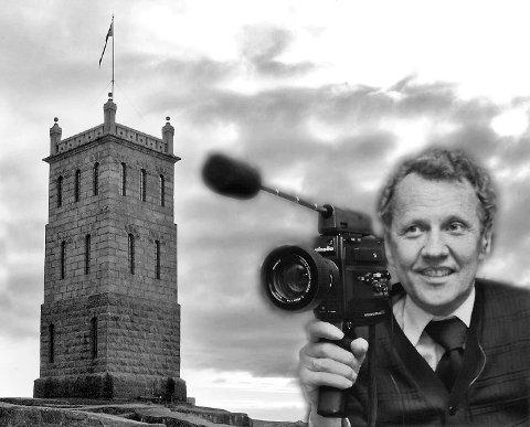 DOKUMENTERTE TØNSBERG: Thorleif Moe var stadig på farten i Tønsberg med smalfilmkameraet sitt. Nå blir en del av filmmaterialet hans gjort tilgjengelig også for almenheten. Bildet er en fotomontasje.