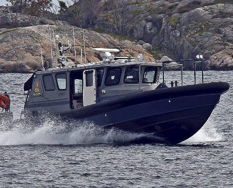 Sto klare: Mannskapet ombord på hurtiggående tollbåten Svinør var blant de mange som var i sving da hasjsmuglerne ble pågrepet på Gjeving i begynnelsen av augusti fjor