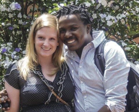 LYKKELEG GIFT: Marte og Gabriel gifta seg i for eit år sidan, etter å ha vore kjærastar sidan 2011.