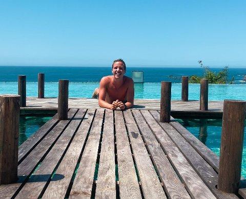 MEXICO: Simen Omberg Hansen fra Vestfossen har en variert hverdag. I år har han tilbragt flere måneder i Mexico.