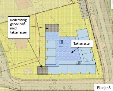 Utvalg for teknikk og utvikling mener plassering av bygget lengst sør på eiendommen er den beste løsningen for boligene på Bekketunet.