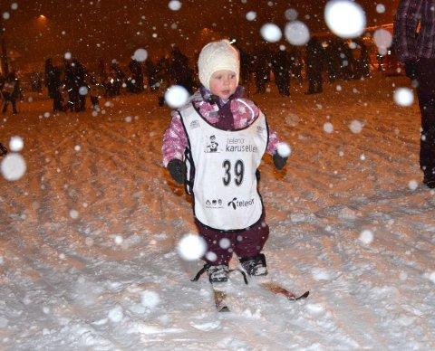 POENGRENN: Endelig klart for vinterens første poengrenn på Skoppum.