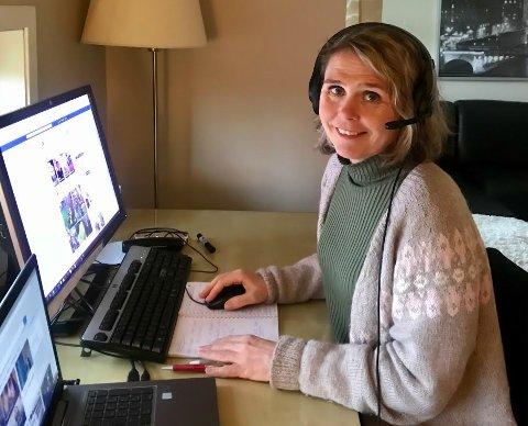 Siri Sægrov Eiane er beredskapskoordinator i Gjesdal kommune. Arbeidsoppgavene utføres i disse dager hjemmefra.
