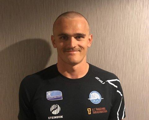 HÅRFINT: Lars Magne Ullvang var nær 3. plassen i prøve-OL. Frisyren er til ære for den kreftsyke lagkameraten Amund Vold.