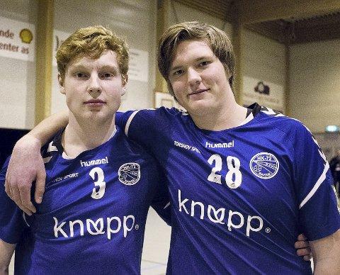 Gøy: – I høyt tempo, sier Are Algrøy og Kasper Olsen.   Foto: Maja Kristiane Holmen Eberlein
