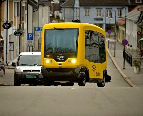 Til høsten blir det en omlegging i ruta for den gule bussen, men den skal fortsatt kjøre i Kirkegata, som her.