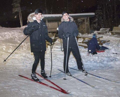 MORO: Sabir Sahil og Mohammad Rezavi kopierte Petter Northug og Johannes Høsflot Klæbo. Alle foto: Tor-Arne Dunderholen